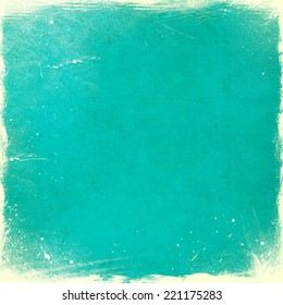 Turquoise grunge texture or background