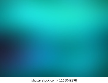 Turquoise ombre pattern. Emerald blurred background. Magical abstract texture. Cosmic night sky defocused illustration. Wonderful empty template.