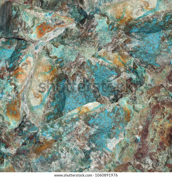 Turquoise raw gemstone texture. Colorful background