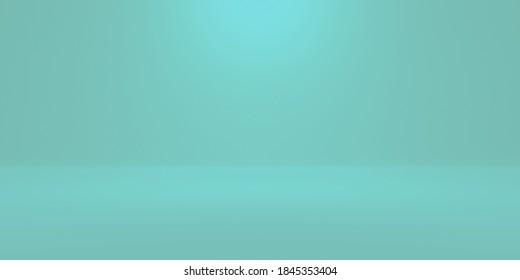 turqupise cyclorama background illuminated for luxury product placement