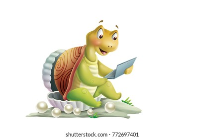 turtle cartoon illustrations
