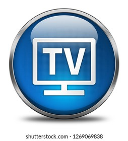tv button isolated. 3d illustration