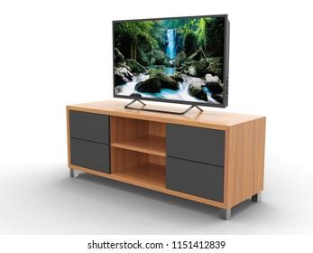 TV cabinet, 3D model.