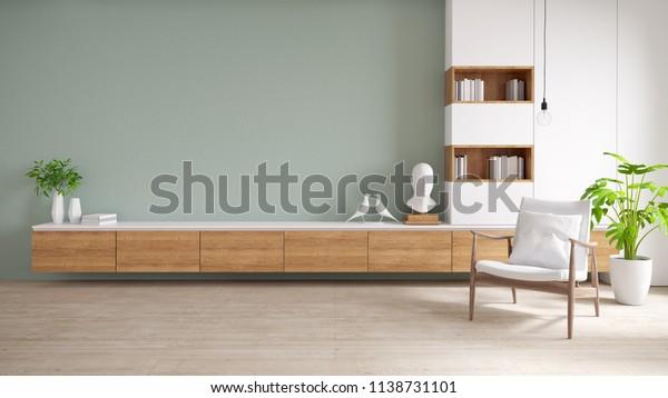 Tv Kast Muur.Tv Kast En Display Met Op Houten Stockillustratie 1138731101
