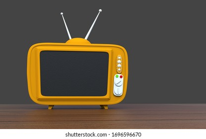 TV cartoon style background technology concept, 3d rendering