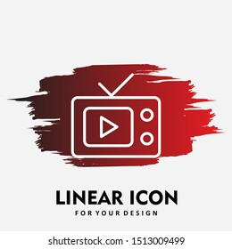 Tv icon isolated on abstract background