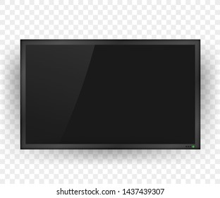 TV, modern blank screen. Lcd tv screen. stock illustration.