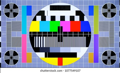 TV multi colored test pattern for digital television
