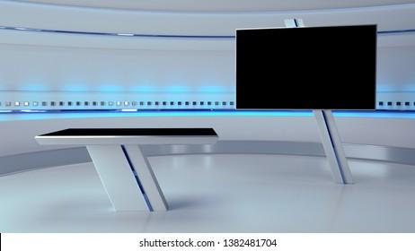 TV Virtual Studio background 3d illustration