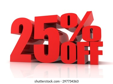 twenty five percent off sale