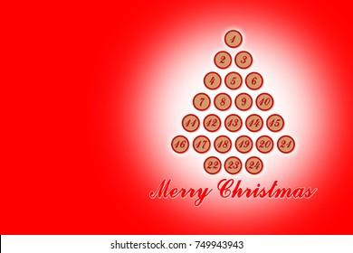 twenty four days until christmas concept image with christmas tree - How Days Until Christmas