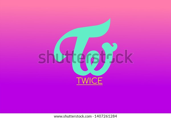 Twice Logo Kpop Background Wallpaper Stock Illustration 1407261284 Perfect for showing kpop twice love wherever you go, or the perfect gift for your stan friends! https www shutterstock com image illustration twice logo kpop background wallpaper 1407261284