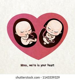 Twin Pregnancies Images, Stock Photos & Vectors   Shutterstock