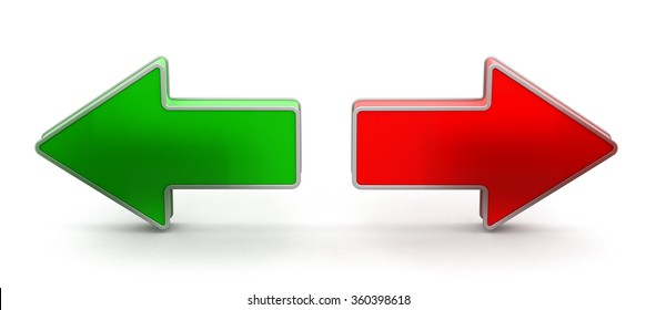 Two arrows. Image with clipping path