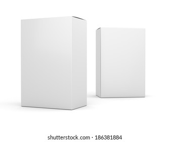 Two blank box vertical products template