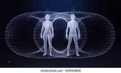 Two Bodies, Balanced Toroidal field front view