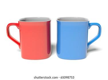 Two colored mug