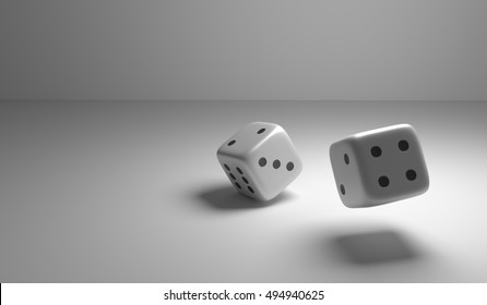 Two dice 3d render