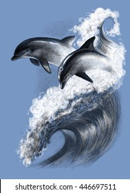 dolphin drawing swimming images stock photos amp vectors