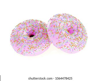 two donuts - 3d illustration