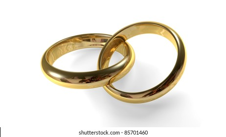 Interlocking Wedding Rings Images Stock Photos Vectors