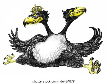 Two headed imperial eagle illustration