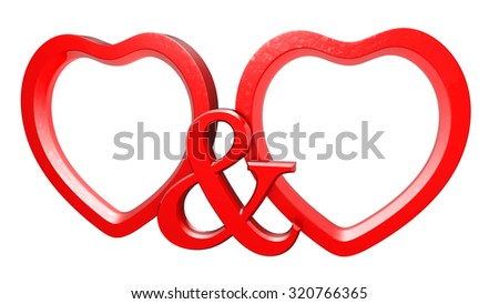 Two Hearts Picture Frame Stock Illustration 320766365 - Shutterstock