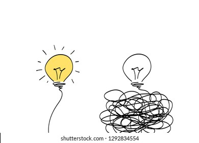 two light bulbs, business solutions