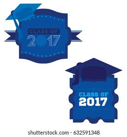 Two mnemonics on Class of 2017 in blue