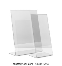 Two plastic holders. 3d illustration isolated on white background