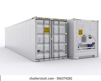 two reefer containers
