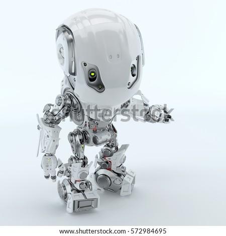 two robotic bbot robots back back stock illustration 572984695