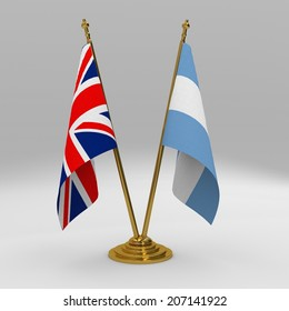 two table flag, partnership United Kingdom and argentina