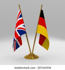 two table flag, partnership United Kingdom and germany