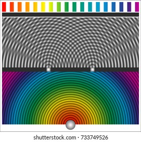 Two-slit diffraction pattern by a plane wave