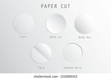A type of circle paper cut illustration