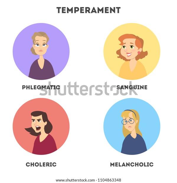 temperaments sanguine choleric melancholic phlegmatic