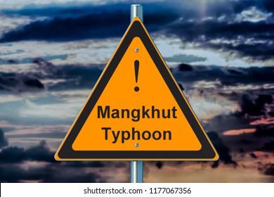 Typhoon Mangkhut concept, 3D rendering