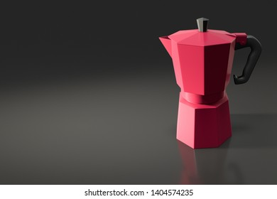 a typical italian coffee percolator 3d illustration