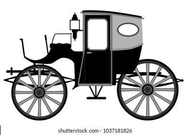 A typical old style Victorian or Georgian style British carriage
