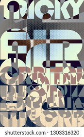Typographic poster. Electronica party artwork.