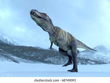 tyrannosaurus in ice age