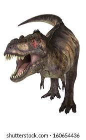 Tyrannosaurus with path