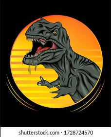 Tyrannosaurus Rex Illustration. suitable for any graphic design related project.
