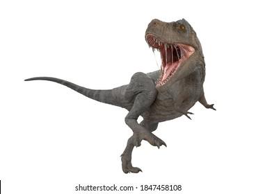 tyrannosaurus rex is looking back, 3d illustration