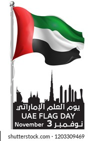 UAE FLAGE DAY 03/11/2018 united arab emirates dubai