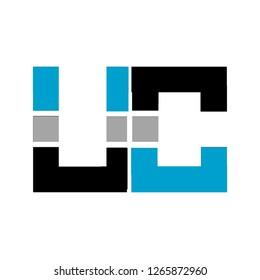 Uc letter design logo