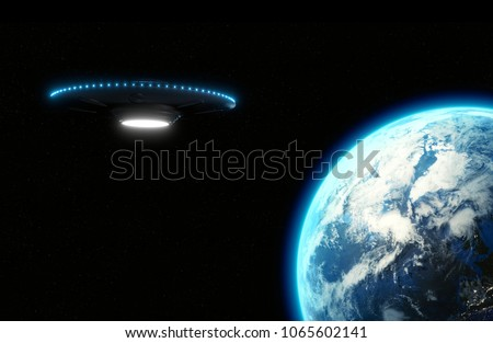 UFO flying saucer with
