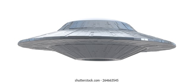 ufo on a white background