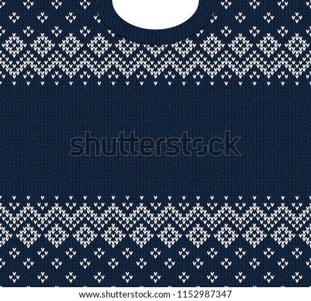 Ugly Sweater Merry Christmas Happy New Stock Illustration Royalty